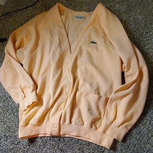 Lacoste peach colored cardigan